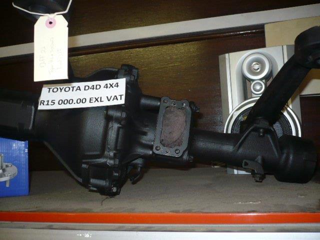 DIFFS FOR SALE: Toyota D4D 4x4