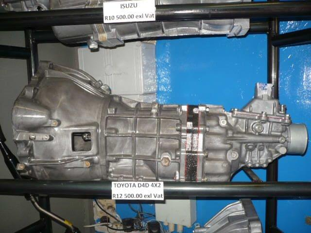 GEARBOXES FOR SALE: Toyota D4D 4X2