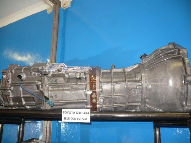 GEARBOXES FOR SALE: Toyota D4D 4X4